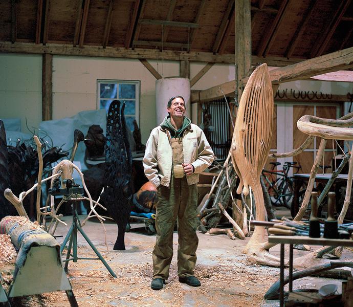 Nick Taylor in his studio. (Photo by Kari Medig)